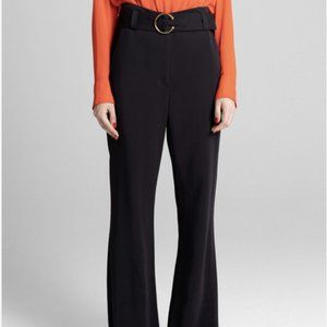 A.L.C. Belted Flare Legs Pants Black